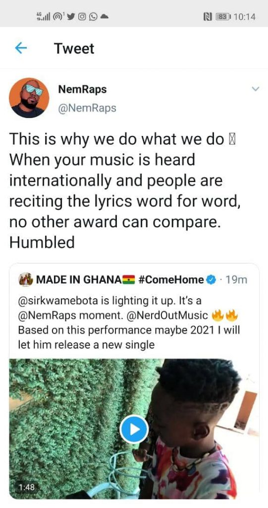 Okyeame Kwame's Son Shocks Top American Rapper after Mimicking his Rap Song  (Video) - Ghana News Online